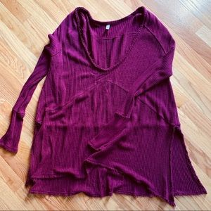 Free people Deep v neck thermal